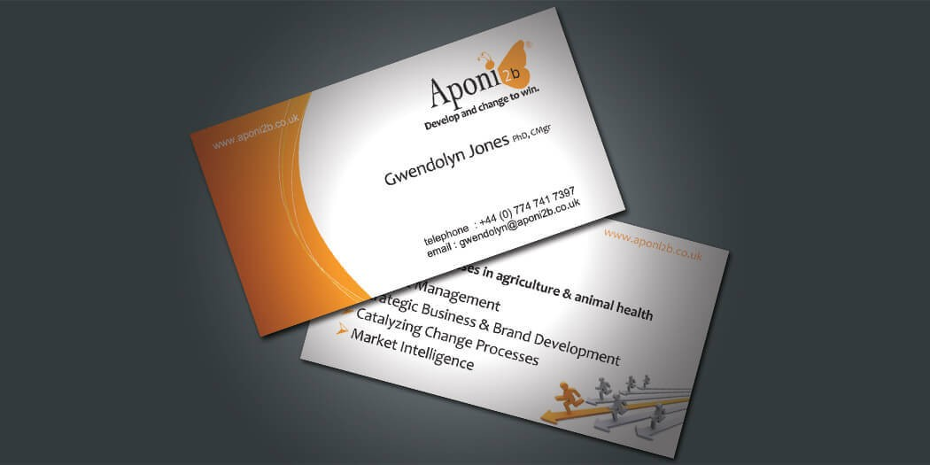 Business Card Design - Edinburgh Agricultural Consultancy Aponi2B